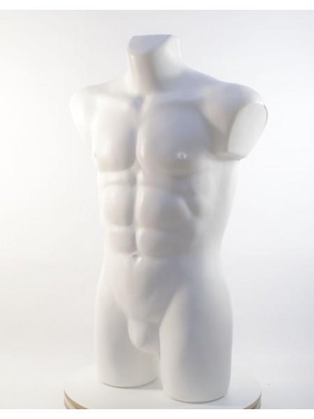 Манекен мужской Давид белый матовый