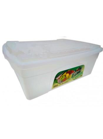 """Пищевой контейнер пластиковый непрозрачный с крышкой 25 л  тм """"Г"""""""