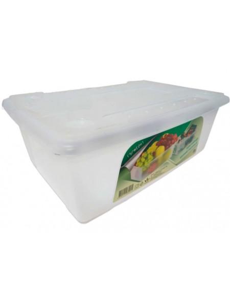 """Пищевой контейнер пластиковый непрозрачный с крышкой 8л  тм """"Г"""""""