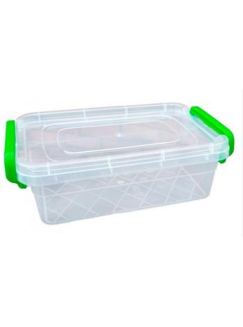 """Пищевой контейнер пластиковый с защелками ( судок ) 1,2 л  тм """"Г"""""""