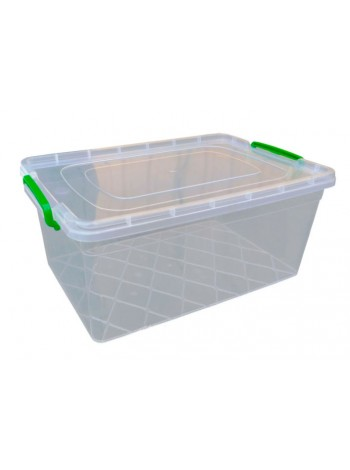 """Пищевой контейнер пластиковый с защелками ( судок ) 15 л глубокий  тм """"Г"""""""