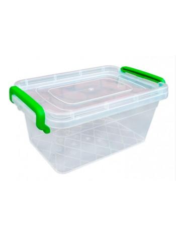 """Пищевой контейнер пластиковый с защелками ( судок ) 2 л  тм """"Г"""""""