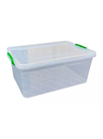 """Пищевой контейнер пластиковый с защелками ( судок ) 20 л глубокий  тм """"Г"""""""