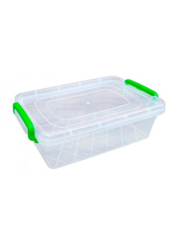 """Пищевой контейнер пластиковый с защелками ( судок ) 2,2 л  тм """"Г"""""""