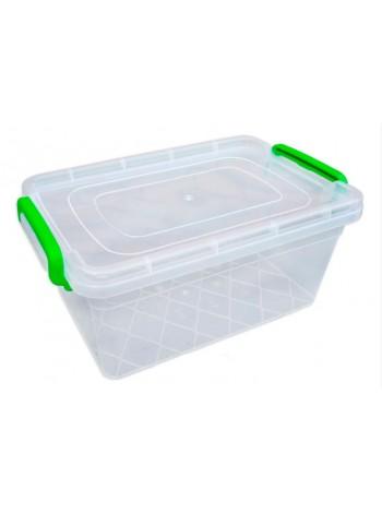"""Пищевой контейнер пластиковый с защелками ( судок ) 3,5 л глубокий  тм """"Г"""""""