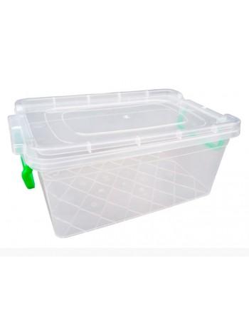 """Пищевой контейнер пластиковый с защелками ( судок ) 5,5 л глубокий  тм """"Г"""""""