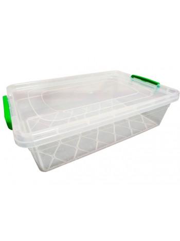 """Пищевой контейнер пластиковый с защелками ( судок ) 9 л плоский  тм """"Г"""""""