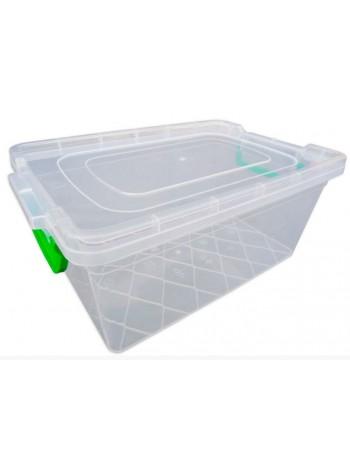 """Пищевой контейнер пластиковый с защелками ( судок ) 10 л глубокий  тм """"Г"""""""