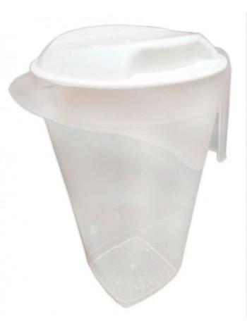 """Кувшин пластиковый 1,7 л с крышкой прозрачный  тм """"К"""""""