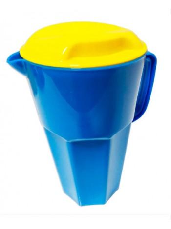 """Кувшин пластиковый 1,7 л с крышкой цветной  тм """"К"""""""