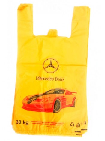 "Пакет майка с рисунком Mercedes  100 шт тм ""V"""