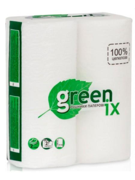 """Бумажные полотенца 100% целлюлоза 2 слоя с перфорацией, 2 рулона тм """"G"""""""