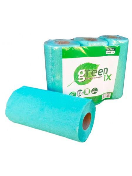 """Бумажные полотенца зеленые/розовые с перфорацией, 3 рулона тм """"G"""""""
