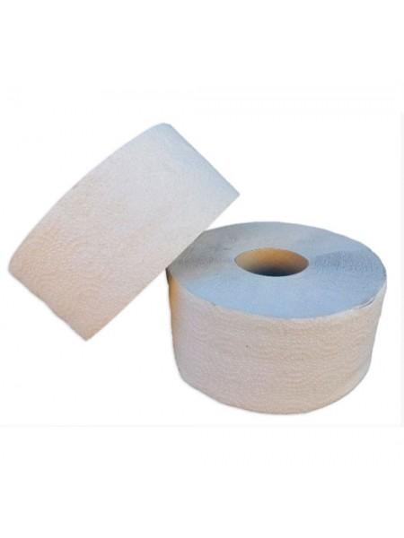 """Туалетная бумага """"Джамбо"""" однослойная серая с перфорацией , 100 метров  тм """"G"""""""