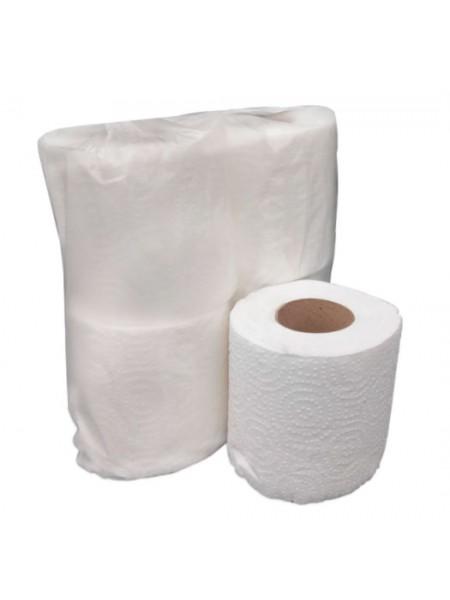 """Туалетная бумага """"Джамбо"""" двухслойная белая с перфорацией 100% целлюлоза ,4 х 18 метров  тм """"G"""""""