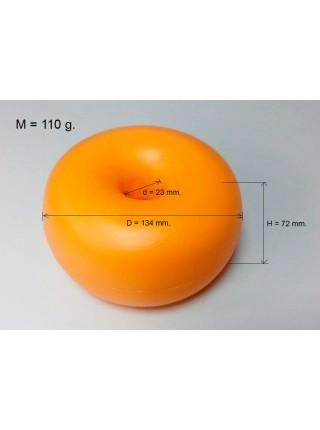 Поплавок оградительный оранжевый 134 мм.