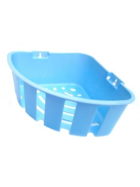"""Полка угловая для ванной одинарная глубокая тм """"Ю"""""""