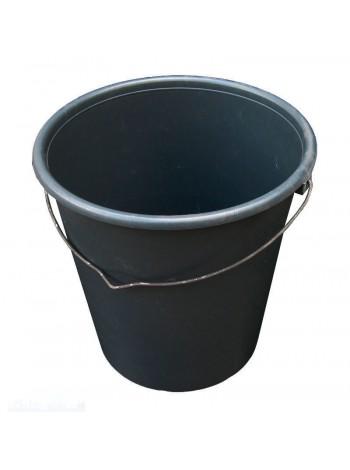 """Ведро строительное черное полиэтилен 16л с металлической ручкой тм """"ХП"""""""
