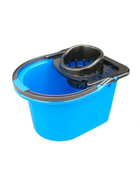 """Ведро для уборки цветное полипропиленовое с отжимом12л тм """"Г"""""""