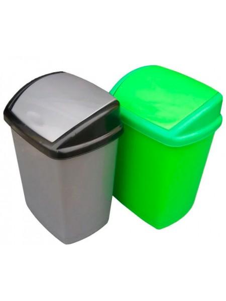 """Ведро для мусора пластиковое с поворотной крышкой 16 л тм """"Г"""""""