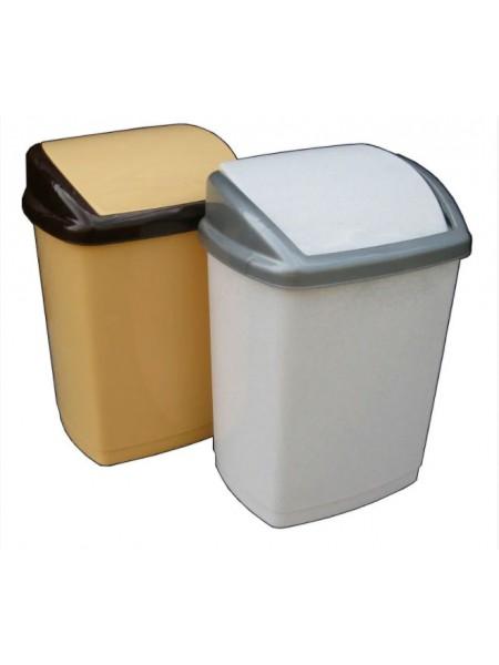"""Ведро для мусора пластиковое с поворотной крышкой 27 л тм """"Г"""""""