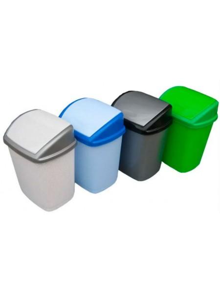 """Ведро для мусора пластиковое с поворотной крышкой 9 л тм """"Г"""""""