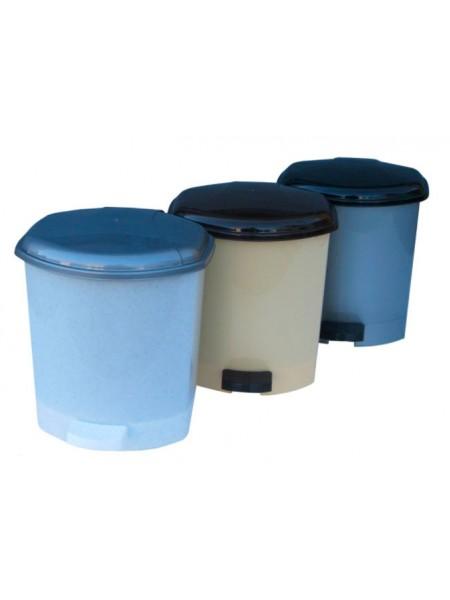 """Ведро для мусора пластиковое с педалью 6 л тм """"Г"""""""