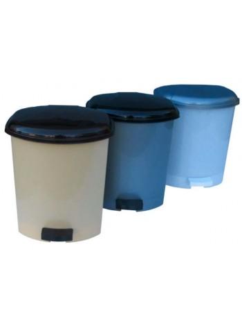 """Ведро для мусора пластиковое с педалью 9 л тм """"Г"""""""