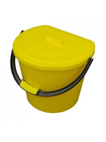 """Ведро для мусора пластиковое цветное с крышкой 11 л тм """"Г"""""""