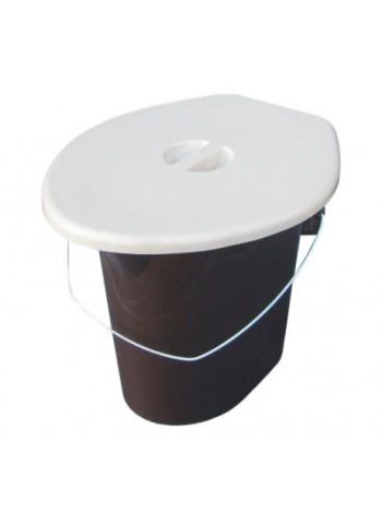 """Ведро - туалет пластиковое 16 л тм """"ПА"""""""