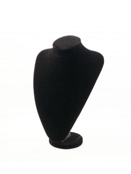 Бюст широкий для украшений черный