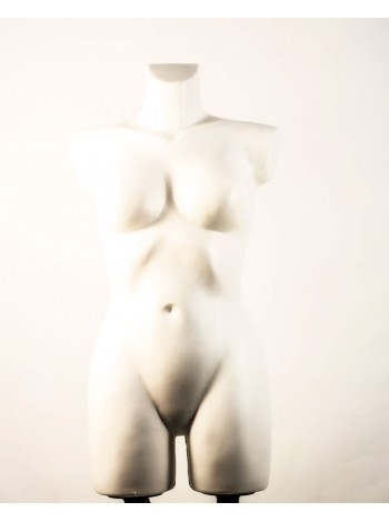 Манекен брючный женский Венера белый перламутровый с креплениями для двойной подставки