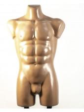 Манекен мужской костюмный пластиковый Давид телесный с креплениями для двойной подставки