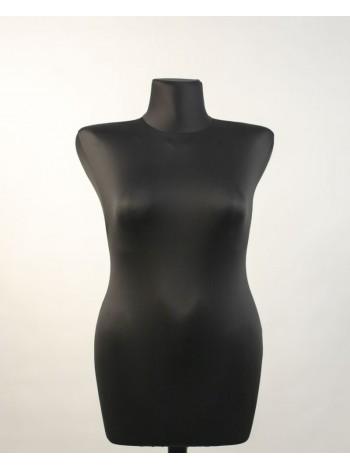 Манекен выставочный пластиковый жесткий Катя 46 в ткани с креплением для треноги