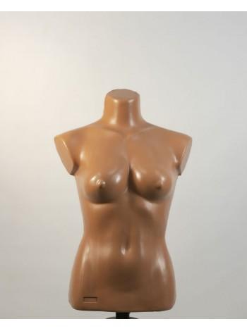 Манекен женский телесный пластмассовый Маша с креплением для треноги