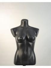Манекен женский черный пластмассовый Маша с креплением для треноги