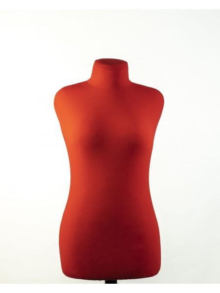 Манекен портновский красный мягкий Любовь 42 деревянная подставка
