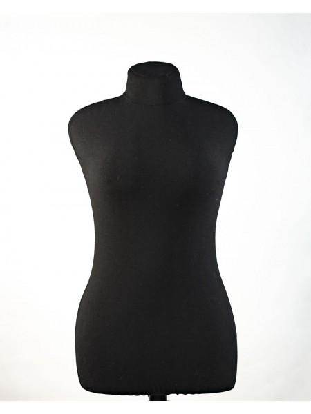 Манекен для шитья в черном чехле Любовь 46 с треногой повышенной устойчивости