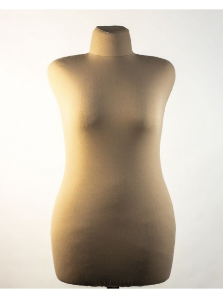 Манекен швейный телесного цвета Любовь 50 в кремовой ткани с деревянной треногой