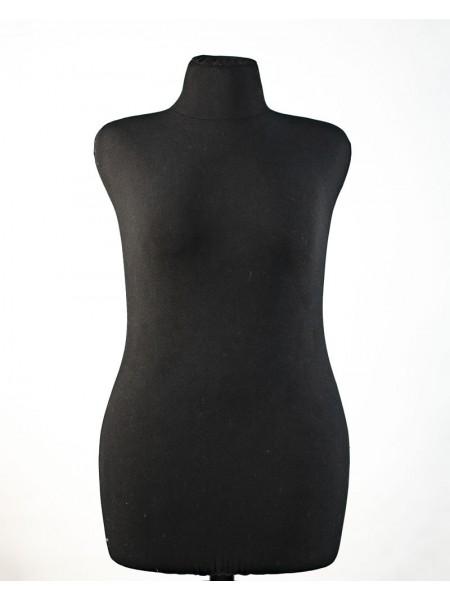 Манекен портновский полумягкий черный Любовь 50 размер на деревянной треноге