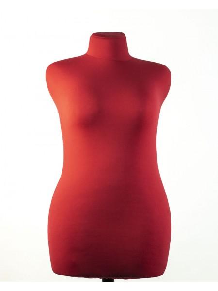 Манекен портной Любовь 52 размера в красной ткани с треногой