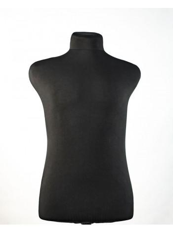 Манекен мужской для шитья в черной ткани Пьер 48 размер