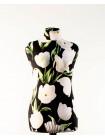 Манекен Любовь 42 дизайнерский в весеннем чехле с белыми тюльпанами