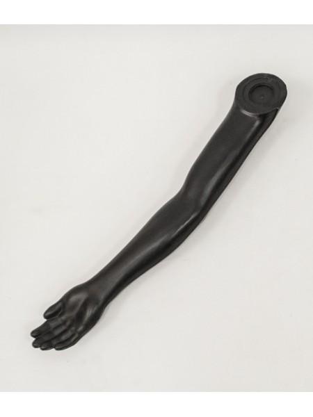 Манекен рука левая мужская черная до плеча