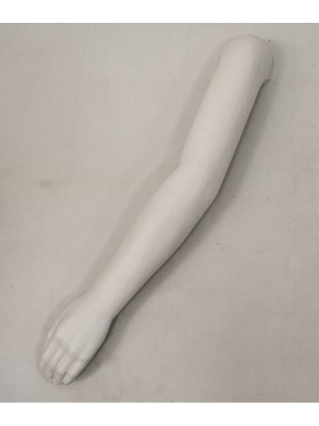 Манекен рука левая мужская белая до плеча