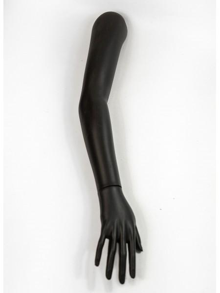 Манекен рука правая женская до плеча черная