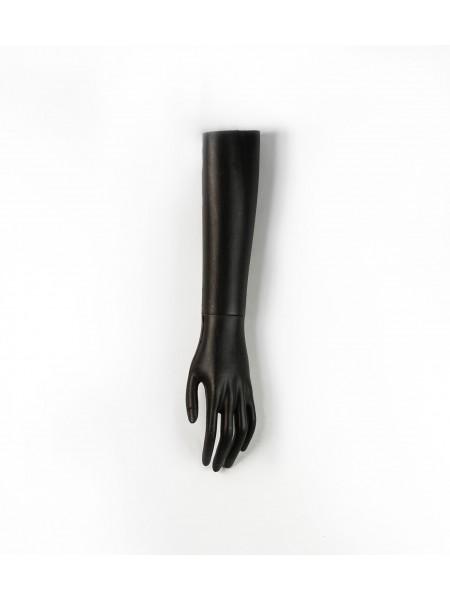 Манекен рука левая женская до локтя черная