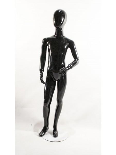 Детский черный глянцевый Аватар (H-16) 130 см.