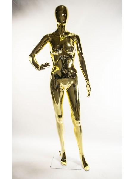 Манекен женский с зеркальной поверхностью FE-11G (золотой)
