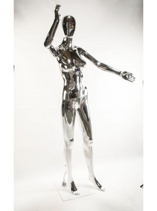 Манекен женский с зеркальной поверхностью FE-7S (серебро)